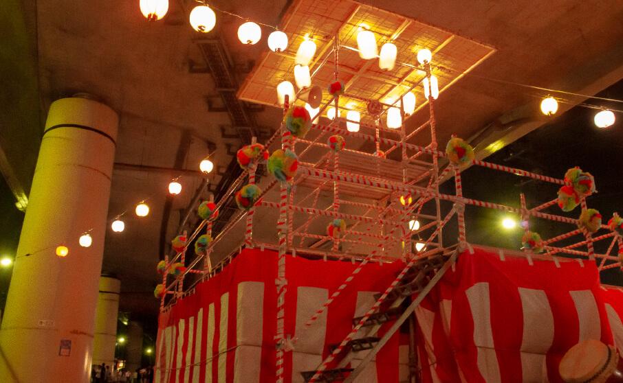 納涼夏祭りin高速道路の高架下