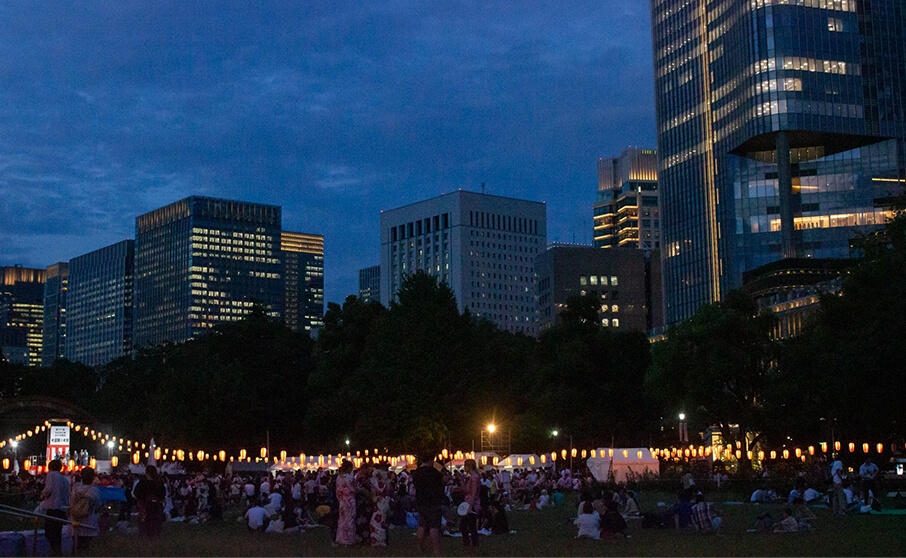 State of the 17th Hibiya Park Marunouchi Ondo Obon Dance 2019