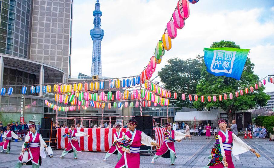 スカイツリー、エイサー、よさこいが楽しめる隅田川踊り納涼大会