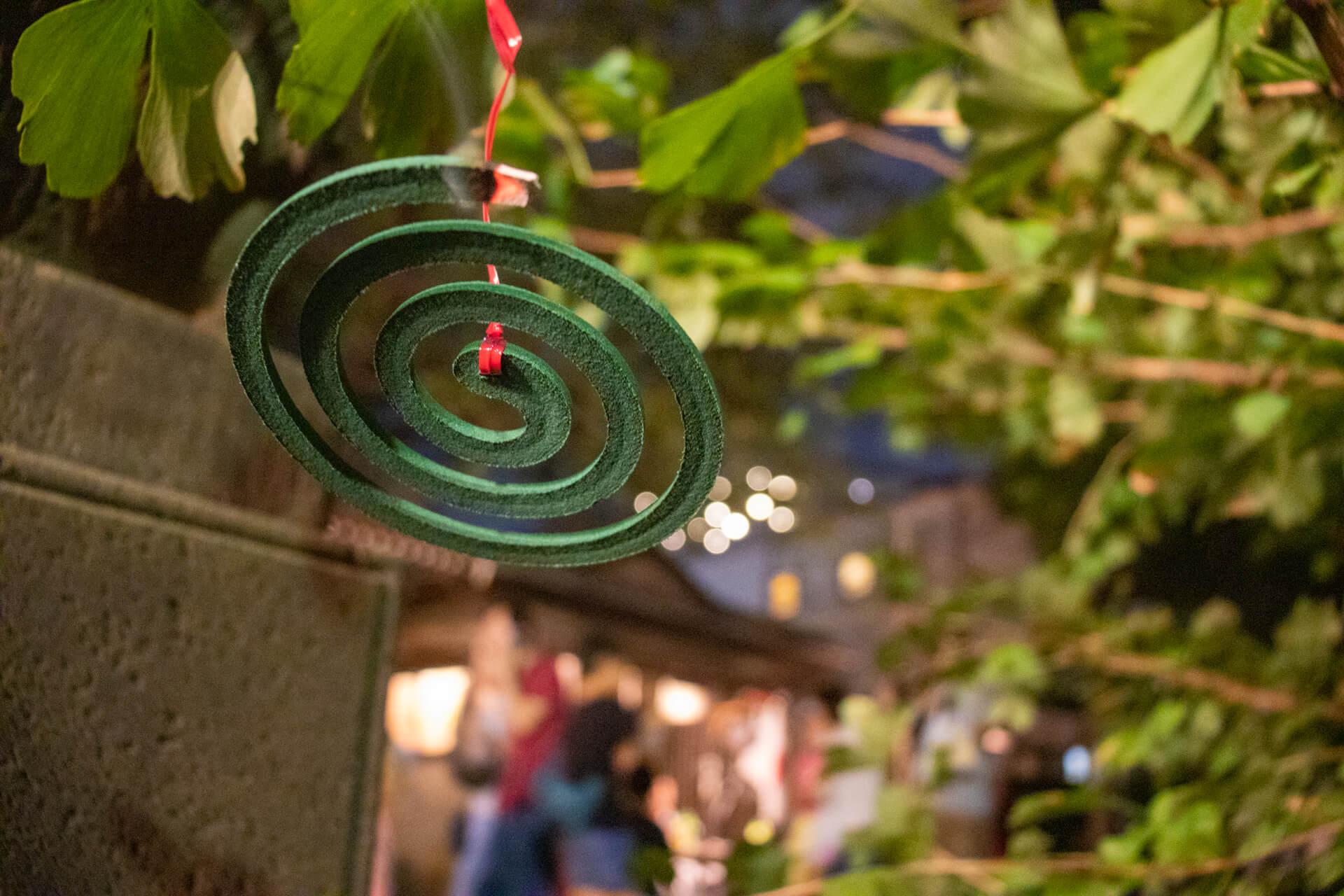 熊野神社例大祭の蚊取り線香