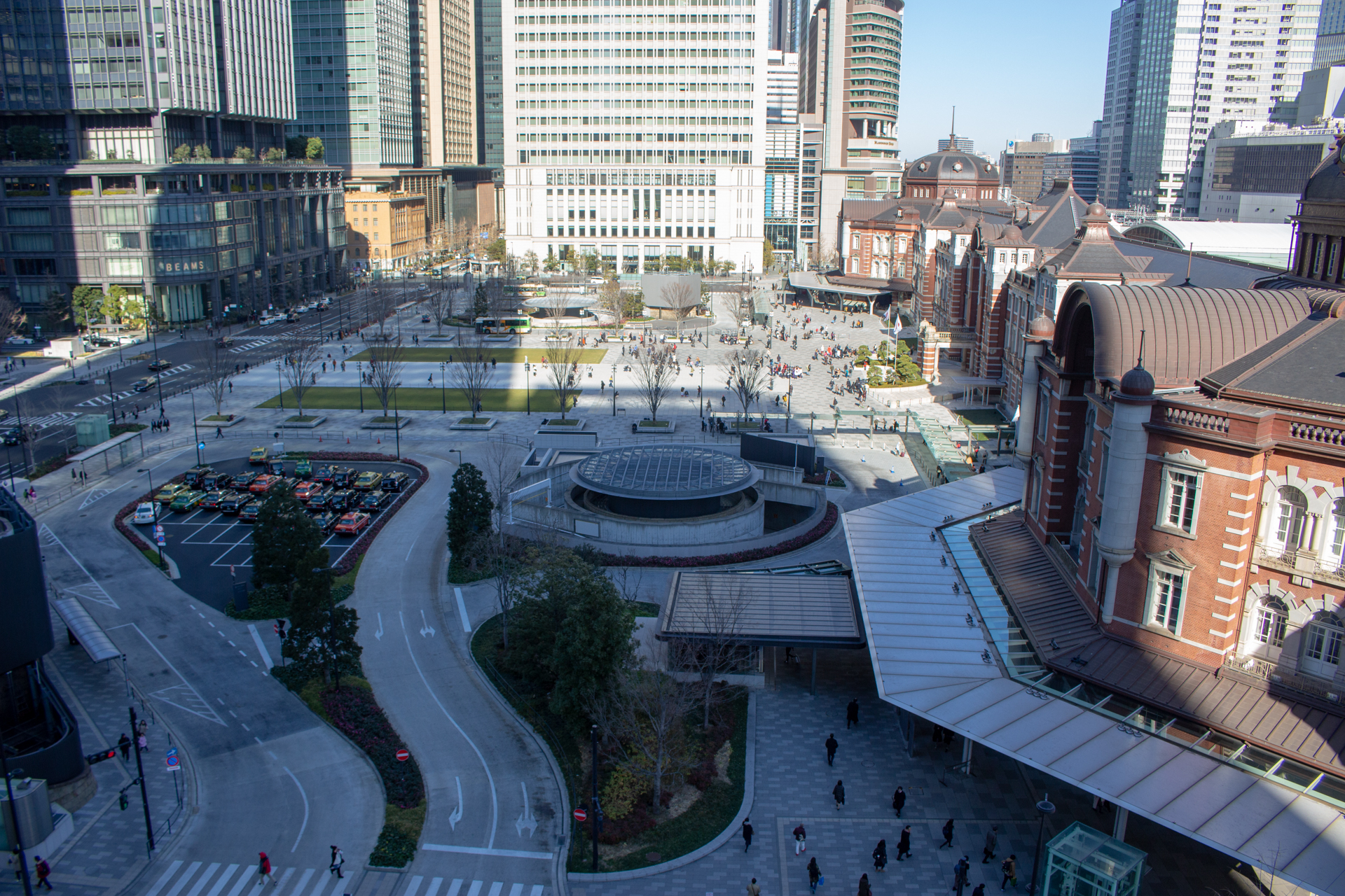 KITTEから撮影した東京駅